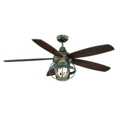 Savoy House Lighting Reclaimed Wood Ceiling Fan with Light