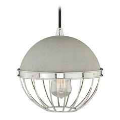 Mini Pendant Polished Nickel Pendant Light with Bowl / Dome Shade by Vaxcel Lighting