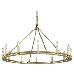 Troy Lighting Sutton Champagne Silver Leaf Chandelier