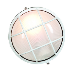 Access Lighting Outdoor Wall Light with White Glass in White Finish 20294-WH/FST
