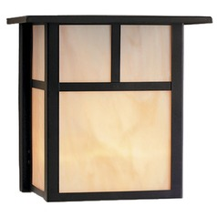 Craftsman Style LED Outdoor Wall Light in Bronze 8-inches Tall