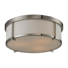 Modern Flushmount Light in Brushed Nickel Finish