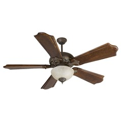 Craftmade Lighting Mia Aged Bronze/vintage Madera Ceiling Fan with Light