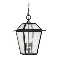 Quoizel Lighting Black Ridge Mystic Black Outdoor Hanging Light