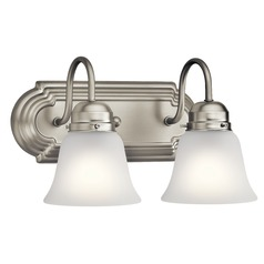 Traditional Bathroom Light Brushed Nickel by Kichler Lighting