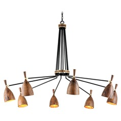 Corbett Lighting Utopia Black with Polished Brass Accents LED Chandelier