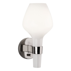 Mid-Century Modern Plug-In Wall Lamp Jonathan Adler Capri by Robert Abbey