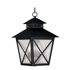 Livex Lighting Montgomery Black Outdoor Hanging Light