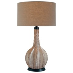 Minka Lavery Gray Table Lamp with Drum Shade