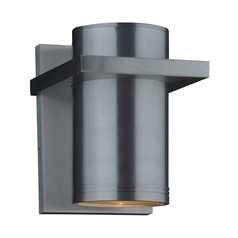 Plc Lighting Zara Silver LED Outdoor Wall Light