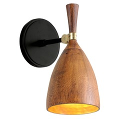 Corbett Lighting Utopia Black with Polished Brass Accents LED Sconce