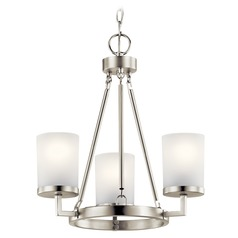 Kichler Lighting Daimlen 3-Light Brushed Nickel Mini-Chandelier