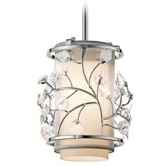 Kichler Mini-Pendant Light with Beige / Cream Glass