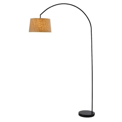 Adesso Home Lighting Goliath Black Arc Lamp