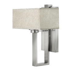 Sconce Wall Light with Grey Shade in Brushed Nickel Finish