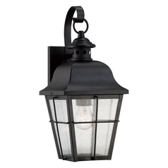 Quoizel Lighting Quoizel Lighting Millhouse Mystic Black Outdoor Wall Light MHE8406K