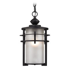 Elk Lighting Meadowview Matte Black Outdoor Hanging Light