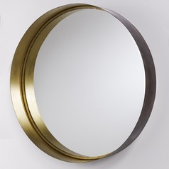 Capital Lighting Brushed Bronze & Aged Brass  Mirror 35.75x36