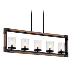 Kichler Lighting Marimount 5-Light Black and Stained Wood Chandelier