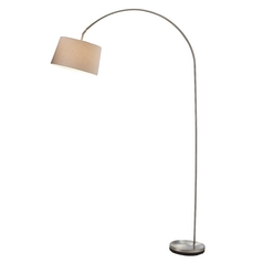 Adesso Home Lighting Goliath Satin Steel Arc Lamp