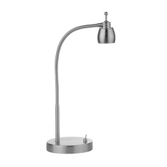 LED Gooseneck Desk Lamp in Satin Nickel Finish - 3000K LED