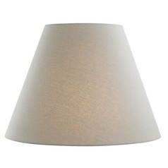 Grey Linen Empire Fabric Lamp Shade with Spider Assembly