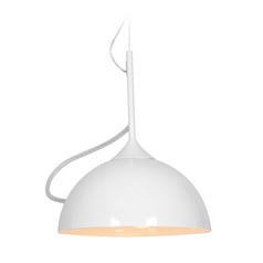 Access Lighting Magneto White Pendant Light with Bowl / Dome Shade