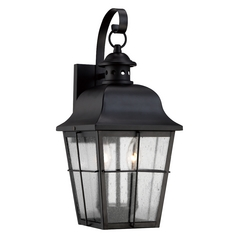 Quoizel Lighting Quoizel Lighting Millhouse Mystic Black Outdoor Wall Light MHE8409K