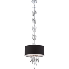 Quoizel Cascade Polished Chrome Pendant Light with Drum Shade