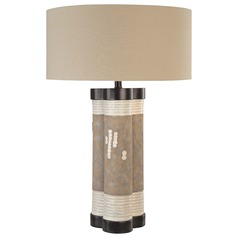 Minka Lavery Multi-Colored Table Lamp with Drum Shade