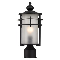Elk Lighting Meadowview Matte Black Post Light