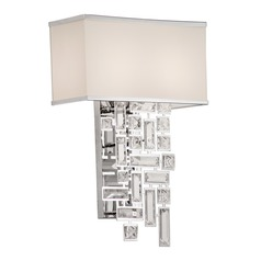 Vermeer 2 Light Wall Bracket w/Off White Shade