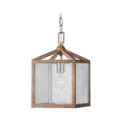 Uttermost Nashua Wooden 1 Light Mini Pendant