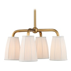 Transitional Chandelier Brass Malden by Hudson Valley Lighting