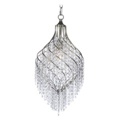 Maxim Lighting Twirl Golden Silver Pendant Light with Oval Shade