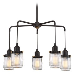 Nautical Chandelier Bronze Belmont by Quoizel Lighting