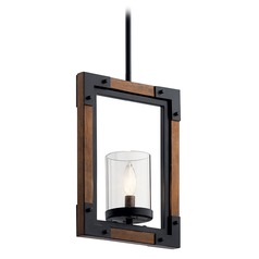 Kichler Lighting Marimount Black and Stained Wood Pendant Light