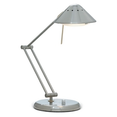 Transitional Satin Nickel LED Adjustable Task Desk Lamp