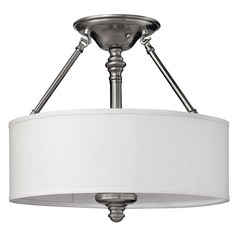 Semi-Flushmount Lights in Brushed Nickel Finish