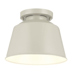 Feiss Lighting Freemont Hi Gloss Grey Close To Ceiling Light