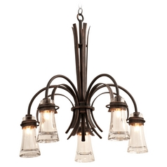 Kalco Lighting Dover Antique Copper Chandelier