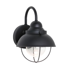 Marine / Nautical Seeded Water LED Outdoor Wall Light Black Sebring by Sea Gull Lighting