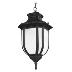 Sea Gull Lighting Childress Black LED Outdoor Hanging Light