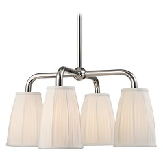 Transitional Chandelier Polished Nickel Malden by Hudson Valley