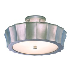Norwell Lighting Isabel Brush Nickel Semi-Flushmount Light