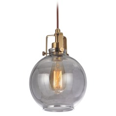 Craftmade Vintage Brass Pendant with Smoked Clear Shade