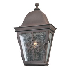 Outdoor Wall Light with Clear Glass in Weathered Bronze Finish