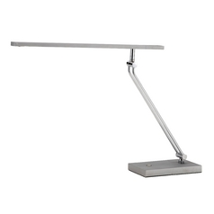 Adesso Home Lighting Saber Satin Steel LED Desk Lamp