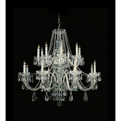 Crystal Chandelier in Polished Chrome Finish