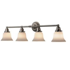 Four-Light Bathroom Vanity Light with Bell Shades